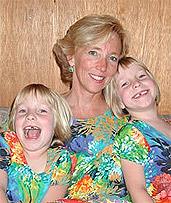 Lisa with twins